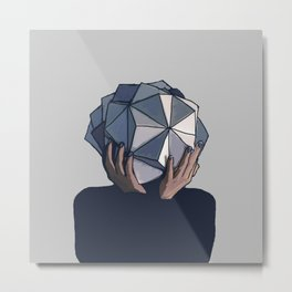 Mujer poliedro Metal Print