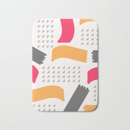 Modern triangles and happy colors Bath Mat