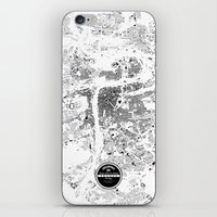 prague iPhone & iPod Skins featuring PRAGUE by Maps Factory