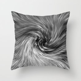 177 - Black and white abstract design Throw Pillow