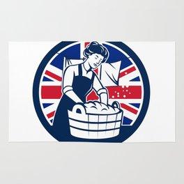 British Laundry Union Jack Flag Icon Rug