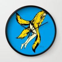 banana Wall Clocks featuring banana by shunsuke art