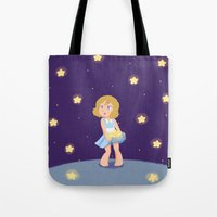 hetalia Tote Bags featuring Starry Girl by gohe1090
