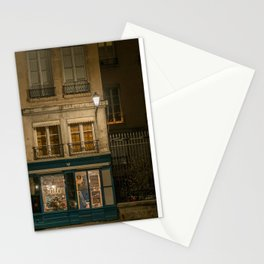 Lyon (France) night cityscape Stationery Cards