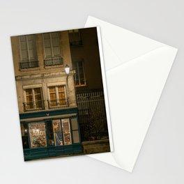 Lyon (France) night cityscape Stationery Cards