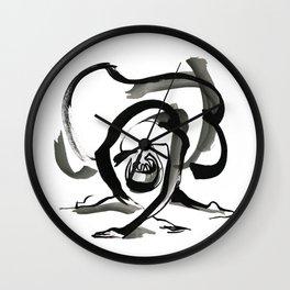 Expressive Ballerina Dance Drawing Wall Clock