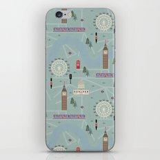 London Map Print Illustration iPhone & iPod Skin