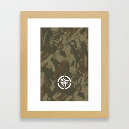 KLCTVEfusion Tiger Stripe Camo print Framed Art Print