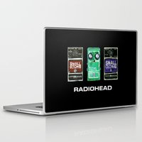 radiohead Laptop & iPad Skins featuring Radiohead Pedals Bedroom Rockstar  by James Peart