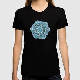 Blue fish scales pattern T-shirt