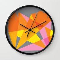 nick cave Wall Clocks featuring Cave by Kim Osborne