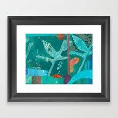 Turquoise Repeat Framed Art Print