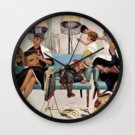 Retro Beauty Salon Wall Clock