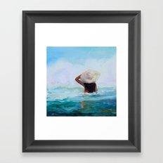 Private Beach Framed Art Print