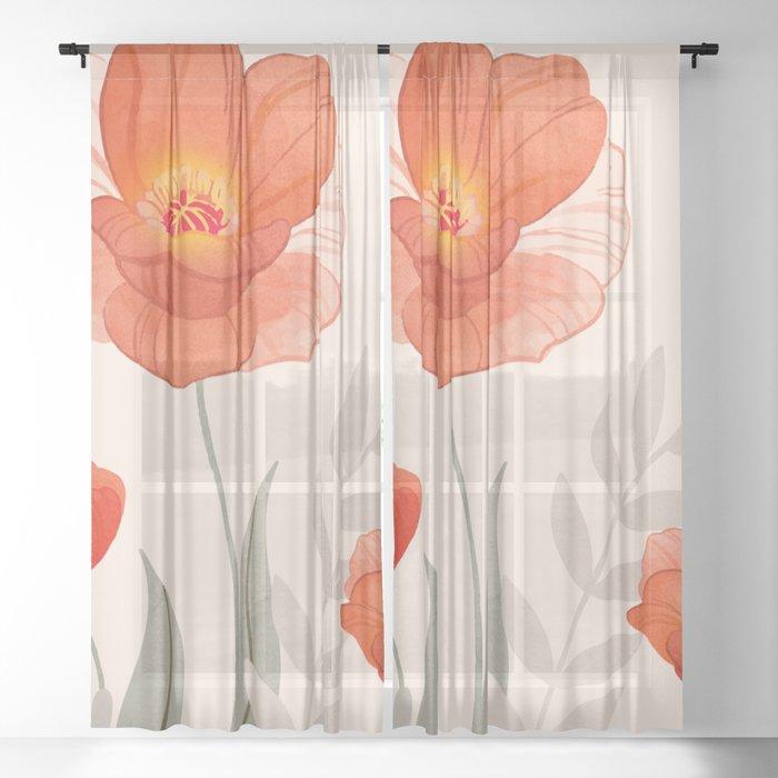 Summer Flowers II Sheer Curtain