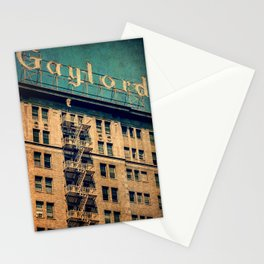 1924 Gaylord Apartments Vintage Neon Sign  Stationery Cards