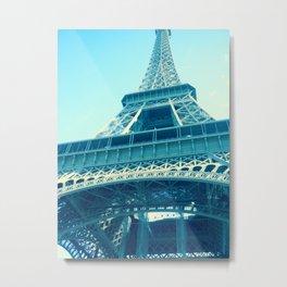 Eiffel in Blue Metal Print