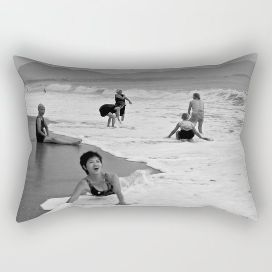 Bathing Woman in Vietnam - analog  Rectangular Pillow