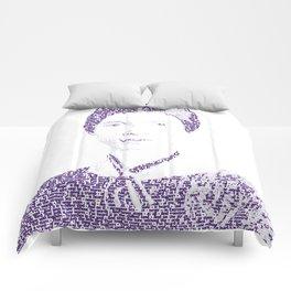 Emily Dickinson - Word Portrait Comforters