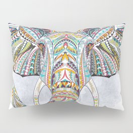 Colorful Ethnic Elephant Pillow Sham