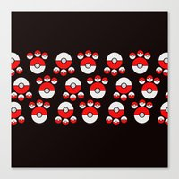 pokeball Canvas Prints featuring Pokeball Print by UMe Images