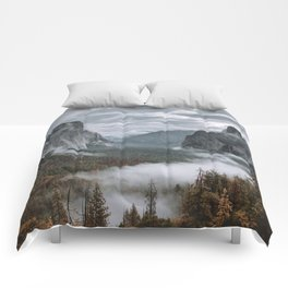 Misty Tunnel View Comforters