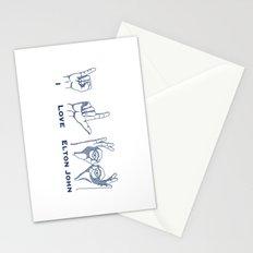I Love Elton V2 Stationery Cards