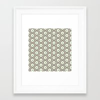 honeycomb Framed Art Prints featuring Honeycomb by Tayler Willcox