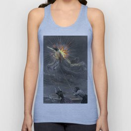 'The Evil Star' Antique Celestial Engraving from the Book Les Etoiles  Unisex Tank Top