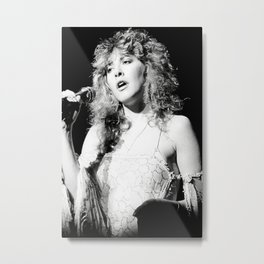 Fleetwoo-d Mac Stevie Nicks Rumours Tour 1970's approx Rare Uk Poster and Wooden Poster Hanging Kit Included Metal Print