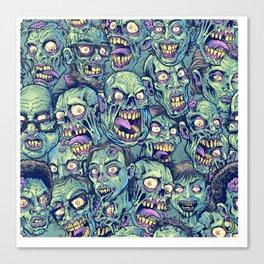 Zombie Repeatable Pattern Canvas Print