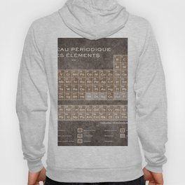 Tableau Periodiques Periodic Table Of The Elements Vintage Chart Sepia Red Tint Hoody