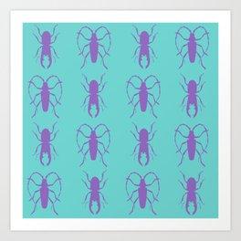 Beetle Grid V1 Art Print