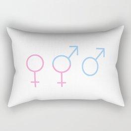 Symbol of Transgender 54 Rectangular Pillow