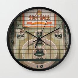 Skee Ball Game Wall Clock