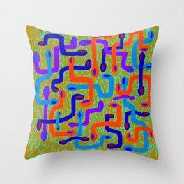 serpent pattern Throw Pillow