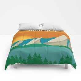 Boulder, Colorado - Skyline Illustration by Loose Petals Comforters