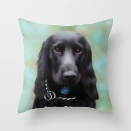 Cocker Spaniel Digital Painting Throw Pillow