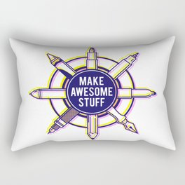 Make awesome stuff Rectangular Pillow