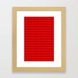 building brick blocks red tops Framed Art Print