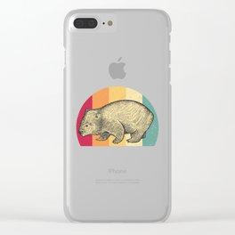 Wombat Retro Clear iPhone Case