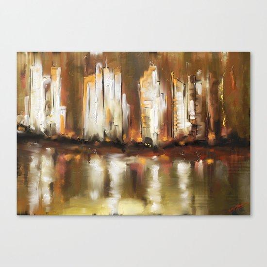 Brown City Canvas Print