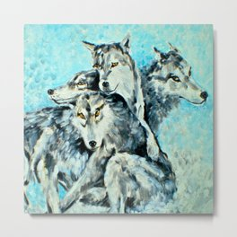 Our Brothers, the Wolves Metal Print
