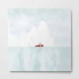 A Ship & An Iceberg Metal Print