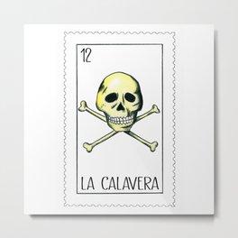 La Calavera, the skull Metal Print