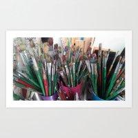ART BRUSHES LOVED Art Print