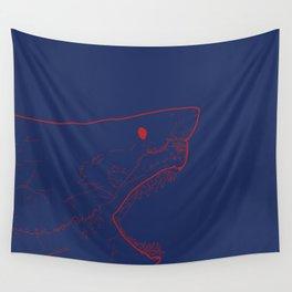 Blue Shark Wall Tapestry