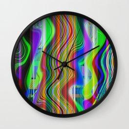 RADIO CHANNEL WAVES Wall Clock