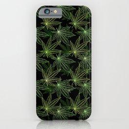 Cannabis Leaf (Black Glow) - Camo iPhone Case