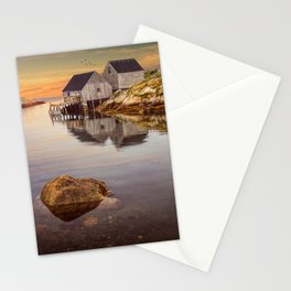 Peggy's Cove Harbor at Sunset in Nova Scotia Stationery Cards